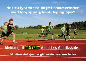 Fire dag i sommerferien med løb, spring, kast. leg og sjov